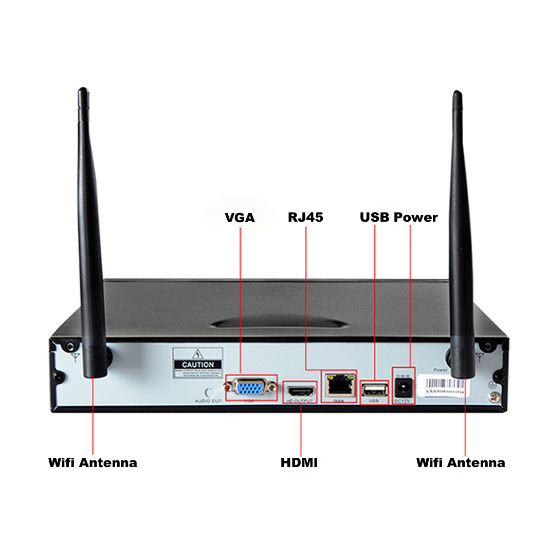 8CH HD 720P WIFI NVR Kit