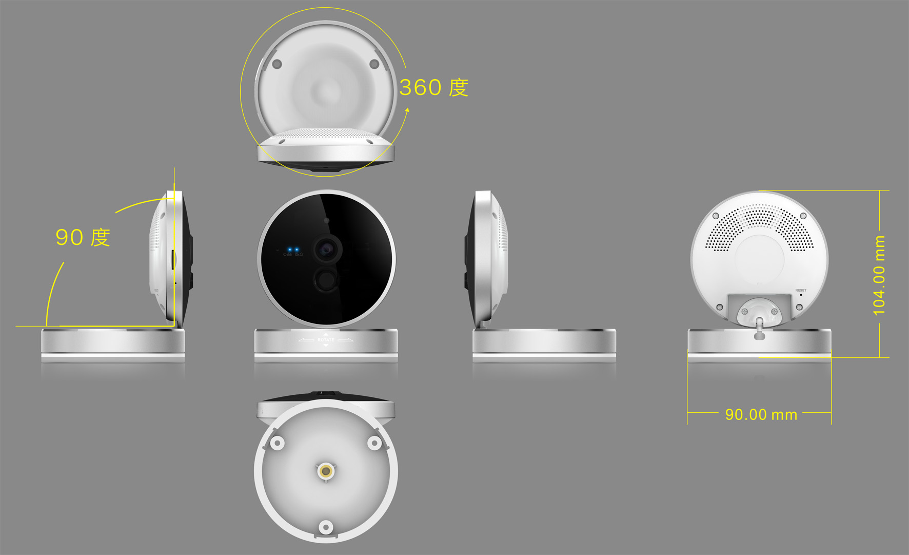 720P WIFI Home USE Smart Camera With PIR Alarm
